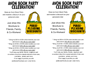 Avon Book Party Celebration