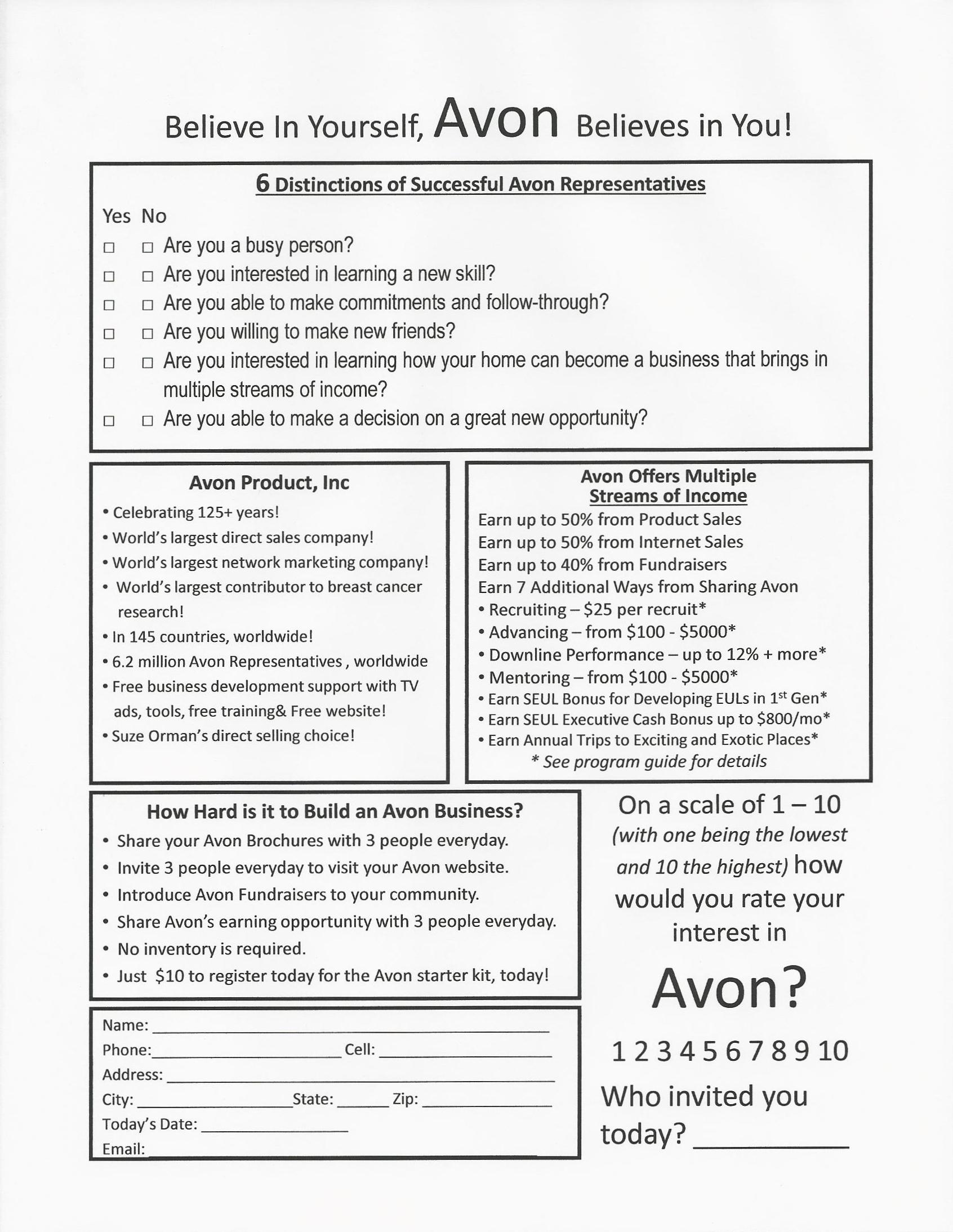 avon order form pdf - filez acewg, Invoice templates