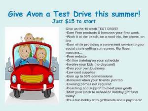 give Avon a test drive