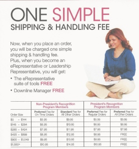 One Simple Shipping & Handling Fee